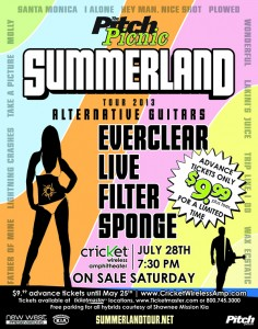 Summerland Tour 2013: EVERCLEAR, LIVE, FILTER, & SPONGE @ Cricket Wireless Ampitheatre  | Bonner Springs | Kansas | United States