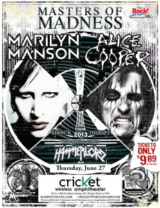 MASTERS OF MADNESS: ALICE COOPER & MARILYN MANSON  @ Cricket Wireless Ampitheatre  | Bonner Springs | Kansas | United States