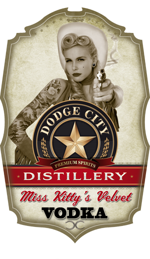 Miss Kitty's Velvet Vodka - Dodge City Distillery