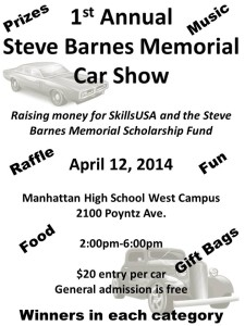 Steve Barnes Memorial Car and Truck Show  @ Manhattan High School West    Manhattan   Kansas   United States