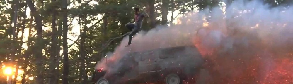 Bro-King Jumps Out of Flying Flaming SUV