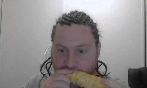 Corny Video With Corn-rowed Man Eating Corn While Listening to Korn