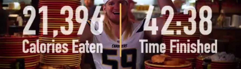 (Video) Watch this NFL Linebacker Eat 21,396 Calories in 43 Minutes