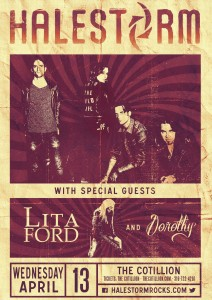 Halestorm w/ Lita Ford @ The Cotillion | Wichita | Kansas | United States