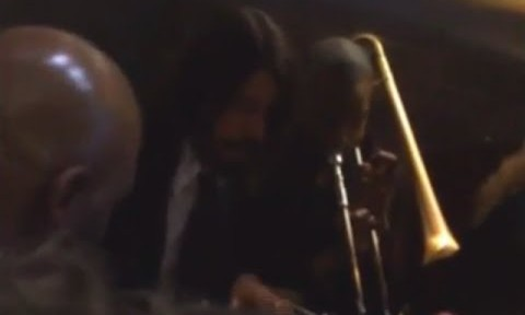 WATCH: Dave Grohl perform with a jazz band before the Grammys