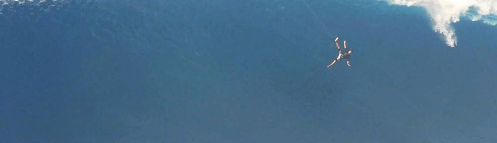 WATCH:… Surfer free-falls 40 feet
