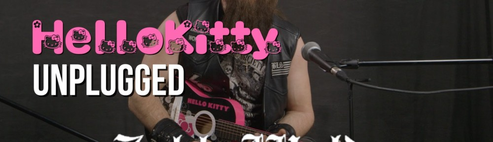 Zakk Wylde Plays Black Sabbath on a Hello Kitty Guitar