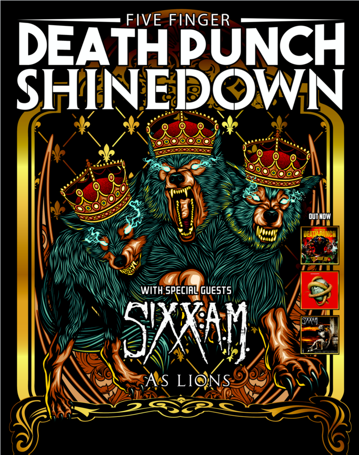 Five Finger Death Punch w/ Shinedown & Sixx AM @ Intrust Bank Arena | Wichita | Kansas | United States