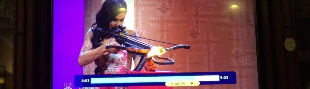 Guy takes flaming arrow to the neck on America's Got Talent