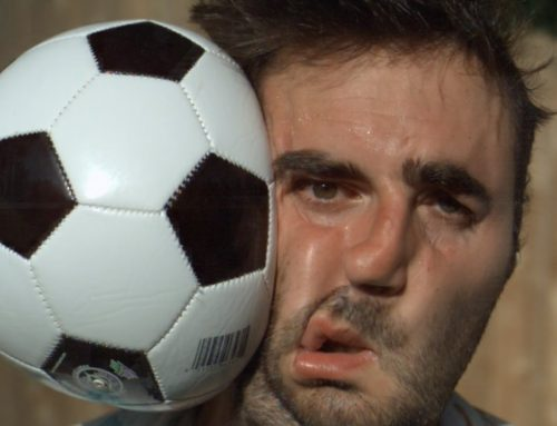 A Guy Gets Drilled in the Face with a Soccer Ball in Super Slow Motion