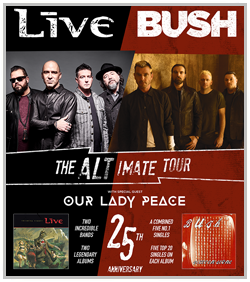 Bush, Live & Our Lady Peace @ Hartman Arena