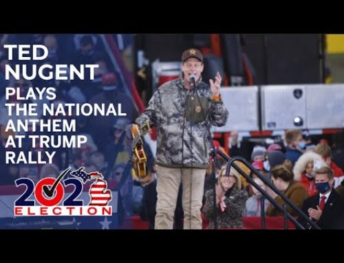 TED NUGENT Performs National Anthem At TRUMP Rally, Calls TRUMP 'The Greatest President In Our Lifetime' (Video)