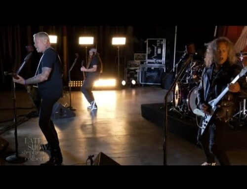 METALLICA Celebrates Master Of Puppets Anniversary With 'Battery' Live On Late Show With Stephen Colbert
