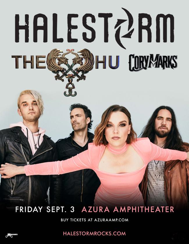 Halestorm with The Hu and Cory Marks @ Azura Amphitheater