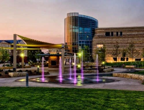 Blue Earth Plaza Becomes Epicenter For Purple Power Play